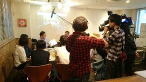 御朱印絡みで神社仏閣好きお茶会が札幌でマスコミ取材を受けた!